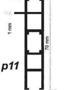 پروفیل آلومینیوم پارتیشن p11