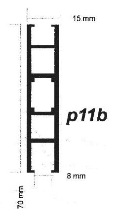پروفیل آلومینیوم پارتیشن p11b